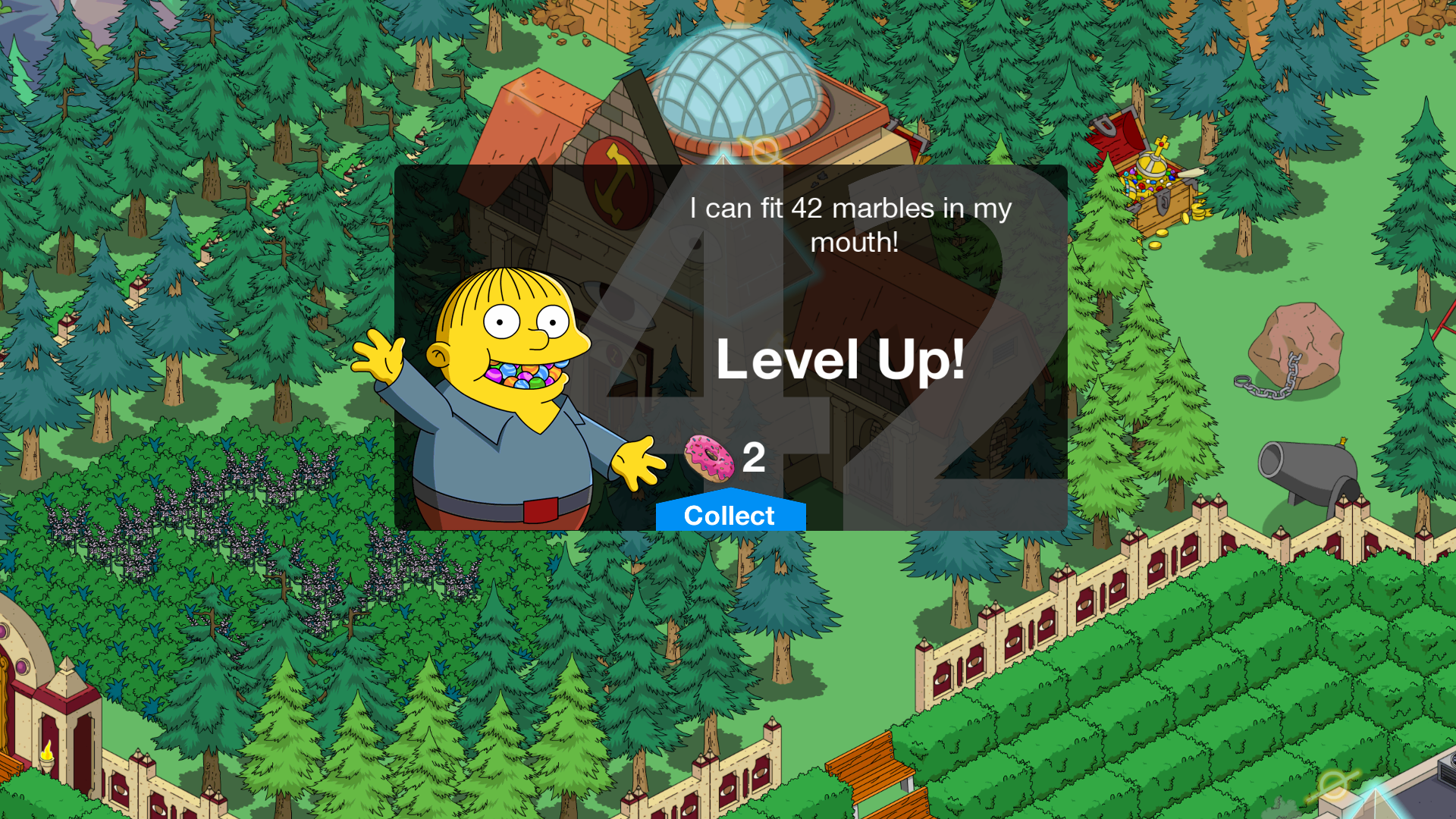 Level 42 - Update für Die Simpsons: Springfield / Tapped