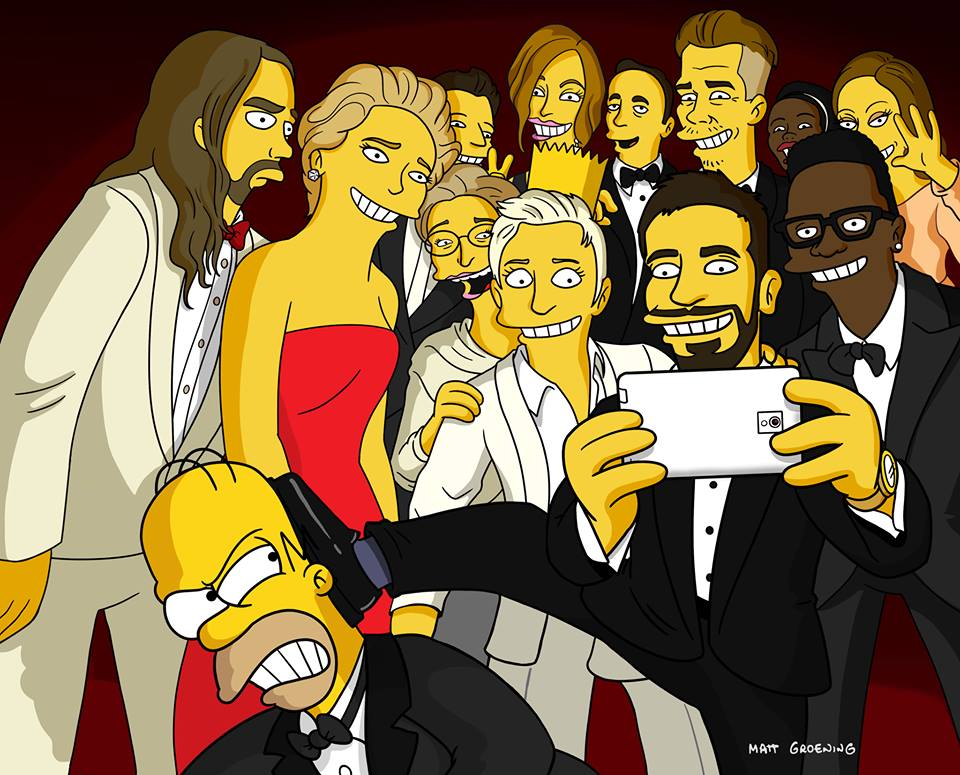Oscars-Selfie in der Simpsons-Version