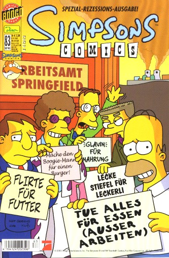 Simpsons Comic Nr. 83
