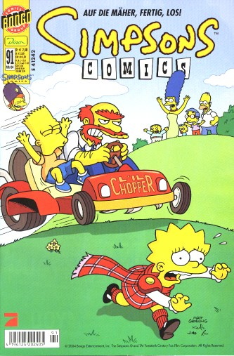 Simpsons Comic Nr. 91