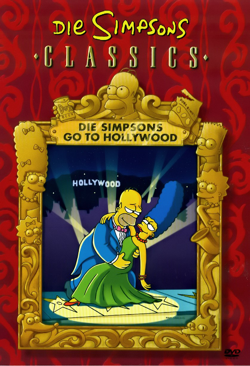 Die Simpsons go to Hollywood Cover