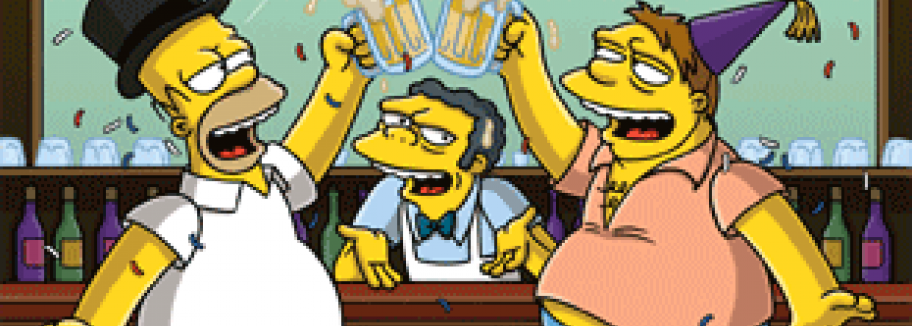 Simpsons-Marathon an Silvester