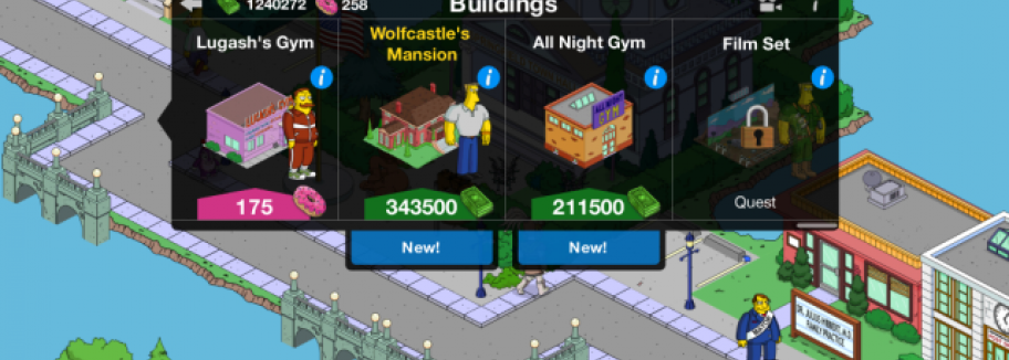 Wolfcastle-Update für Die Simpsons: Springfield / Tapped Out