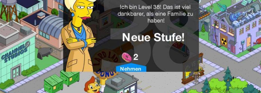 Level 38-Update für Die Simpsons: Springfield / Tapped Out