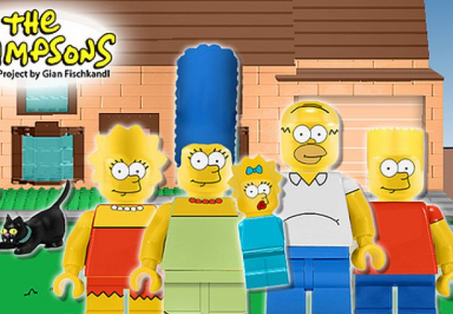 Inoffizielles Simpsons-LEGO-Set